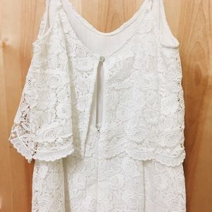 Forever 21 Pants - WHITE LACE ROMPER